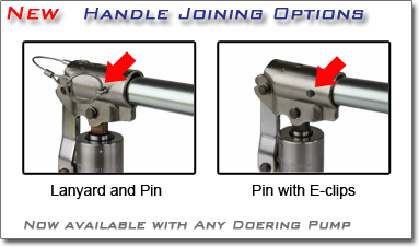 Cartridge Pump Handle Joining Options